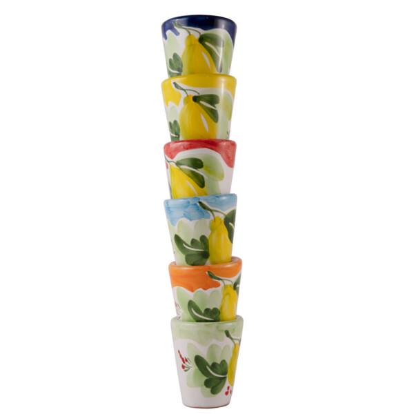 Set 6 Bicchierini per limoncello terracotta