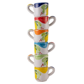 Set 6 Tazzine per Caffè forma cilindrica