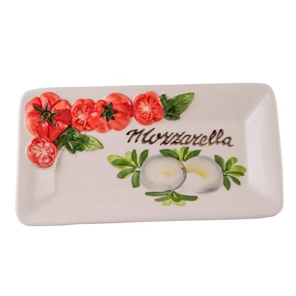 Piatto Rettangolare Mozzarella 24x13