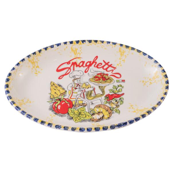 Piatto Ovale Spaghettata cm 32