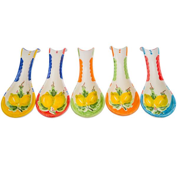 Poggiamestolo Grande decoro limoni colori diversi