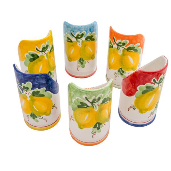 Portabicchieri cm 18 decoro limone