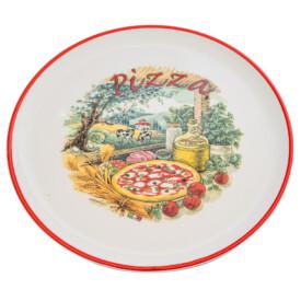 Piatto Pizza Made in Italy - Bordino rosso