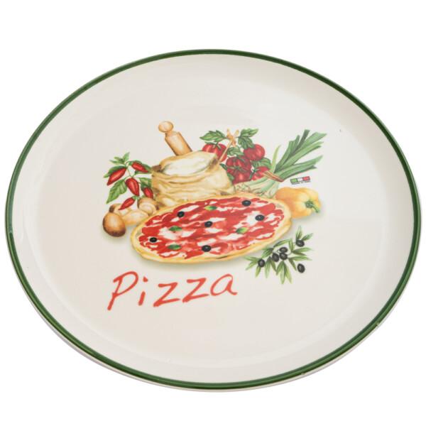 Piatto Pizza Made in Italy - Bordo Verde