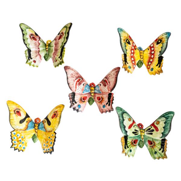 Farfalle da muro in Ceramica cm 15